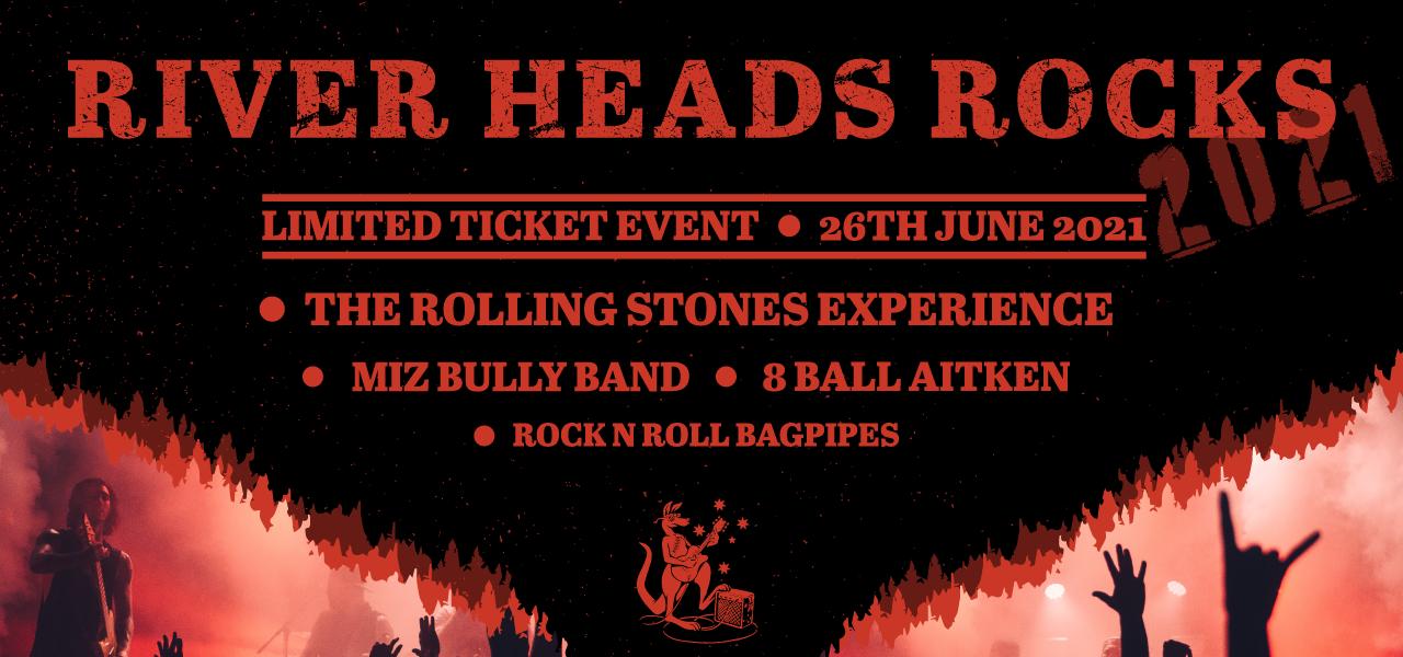 River Heads Rocks Banner
